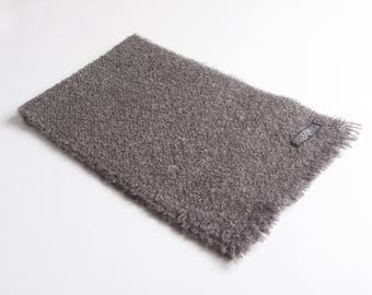 Grey unraised Mohair Scarf