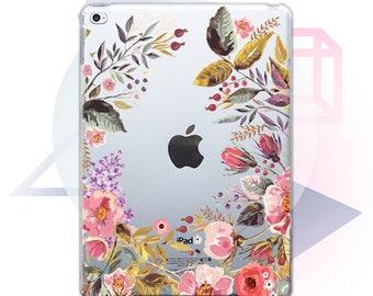 Floral Case iPad 3 Case iPad Air 3 iPad Mini 3 Case Transparent Case iPad Pro Case iPad Mini Case iPad Clear iPad Air Case iPad Cover tMC02