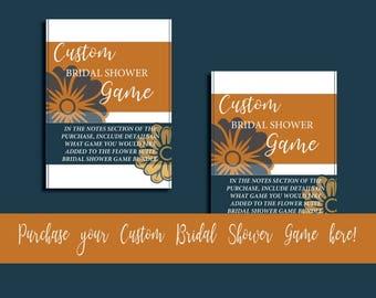Flower Suite Bridal Shower Custom Game