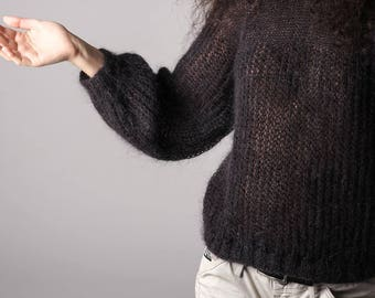 Exclusive Handmade Knitted mohair sweater