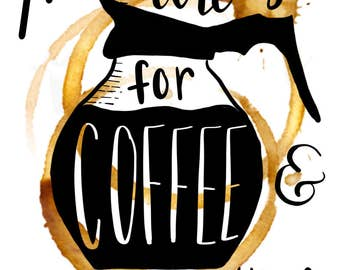 Mornings Are For Coffee Postcard Mini-Print