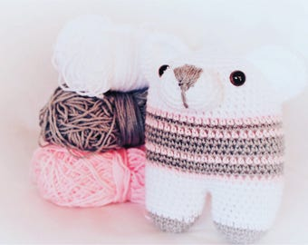 Amigurumi bear white