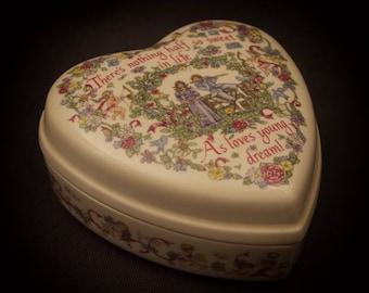 Wedgwood Valentines Day Heart Shaped Trinket Box