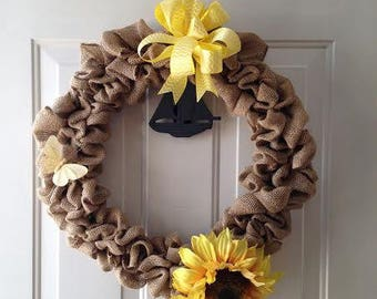 Large Burlap Wreath