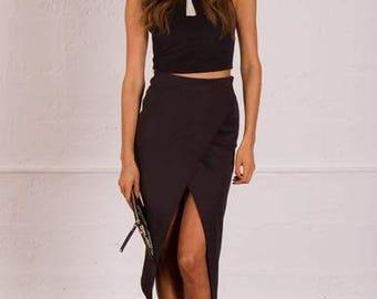 Split Midi Skirt
