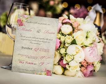 Wedding invitation floral Printable wedding invites set Wedding invitations set printable Printable invitations