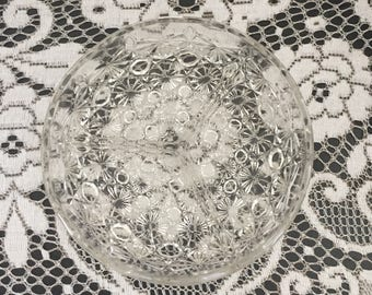 Glass - three section serving dish