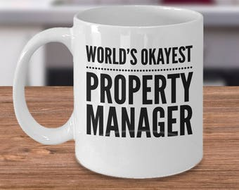 Funny Manager Mug, Property Manager Gift - World's Okayest Property Manager - Property Manager Coffee Cup