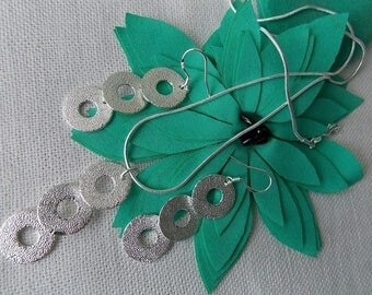 Silver plated set Earrings and Necklace
