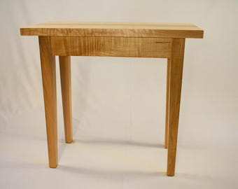 Laminated Tiger Maple Chair Side Table
