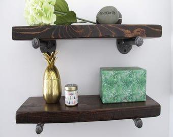 Floating shelf, Floating shelves,Rustic shelf, reclaimed wood shelf, floating pipe shelves