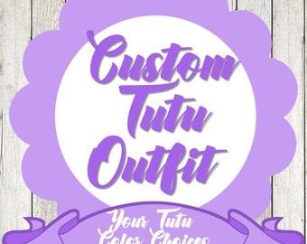 Custom Tutu Outfit Custom Personalized Tutu Outfit Custom Outfit