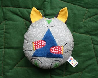 Handmade Soft Toy Cat, beeps when you squeeze it, plushie, babyshower gift, kidstoy, plush doll, children toys, handmade gift, handmade toy