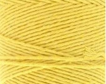 Cotton Yarn MiraYarn 400 g/240 m # 2 or Baba # 8 Yellow Twine Baker's Twine Cotton Crochet Thread