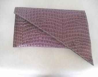 SONATA/Lavender Leather Clutch