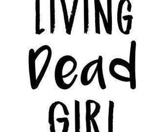Living Dead Girl Horror Rob Zombie Vinyl Car Decal Bumper Window Sticker Any Color Multiple Sizes Merch Massacre