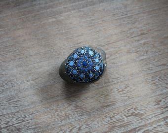 Mandala stone blue