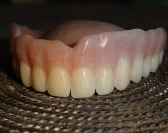 Full Upper Denture ..Real  Denture Acrylic teeth