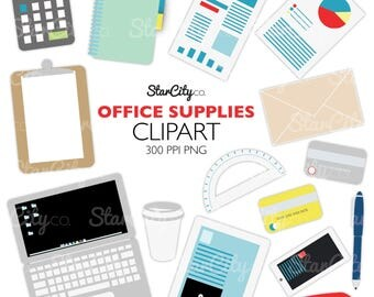 Office Supplies Clip Art, Office  clipart, Business clipart, smart phone clipart, clip art, Clipart, instant download, Laptop clipart