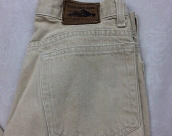Calvin Klein Sport VTG Khaki Mom Jeans High Waist Sz 8 -AC15