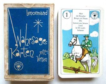 c.1950 Lenormand Fortune Telling Cards 36 German Wahrsagekarten VASS Stuttgart Vintage