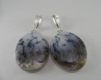 Earrings with Dendritic Agate, Earrings with moss agate, Earrings with dendro agate, ONLY NATURAL STONES