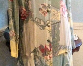 Carole Little Lovely Yellow Feminine Dress Vintage Drop Waist S 4