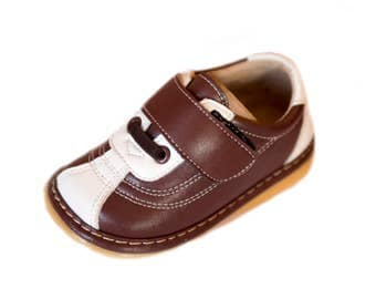 Brown & Cream Squeaky Shoes