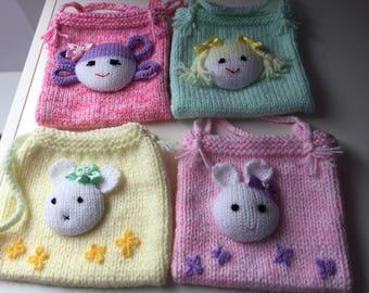 Pretty Little Hand Knitted Handbag