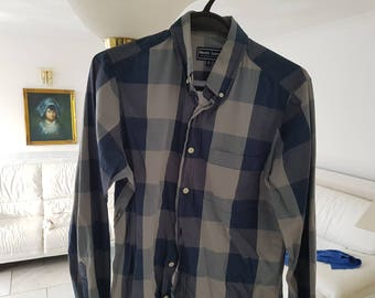Shore leave. Shirt. Blue checkered. Small