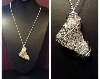 Pyrite Crystal Necklace, Fools Gold