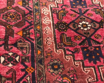 SALE! 4x10 Vintage Zanjan Persian Rug Runner - Hand Knotted