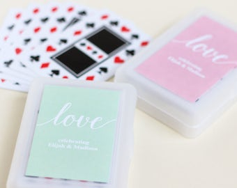 Wedding Playing Card Favors with Personalized Label