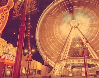 Travel Photography, Ferris Wheel Print, Niagara Falls, Cityscape Print, Printable Art, Printable Home Decor, Tourism, Fine Art Photography