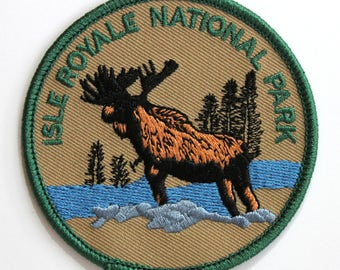 Official Isle Royale National Park Souvenir Iron-on Patch Michigan Lake Superior Scrapbooking FREE SHIPPING