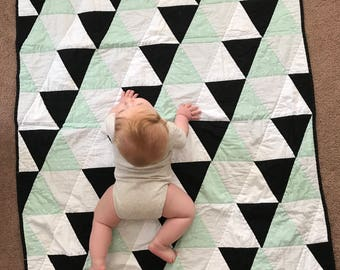 Baby Boy Triangle Quilt
