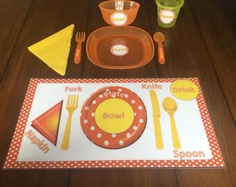 Manners Placemat: Lets Get SET!