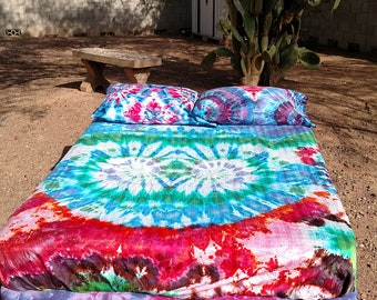 Asymmetrical tie dye sheet/tapestry