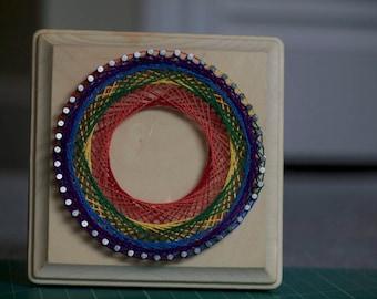 String Art – Rainbow Spirograph (small)