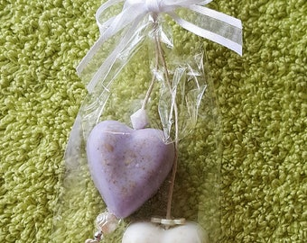 Heart on rope -soap on rope