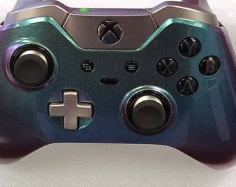 Xbox One Elite Custom Painted Controller-Chameleon Purple to Green Special Effect Paint