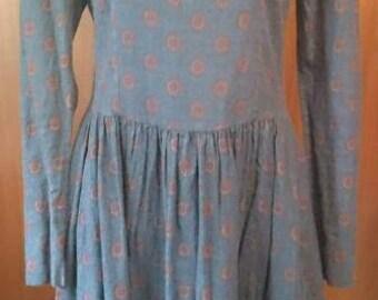 Laura Ashley Cotton Wool Blend Prairie Victorian Tea Time Dress Size 14
