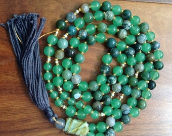 108 mala beaded prayer beads free shipping  meditation yoga jewelry japa beads