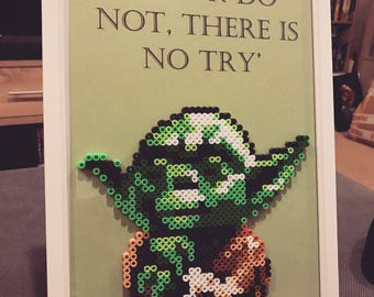 Yoda picture bead design.
