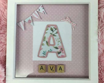 Personalised framed initial