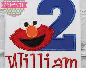 Elmo Birthday shirt - Party - Custom - Personalized