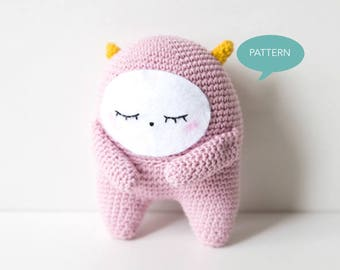 PDF pattern Monster, Monster Amigurumi, Crochet Amigurumi Monster Pattern, Amigurumi Pattern, Monster Crochet Pattern,  Crochet PDF pattern
