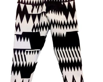 Black/White Tribal Legging
