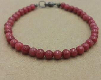 Gemstone bracelet / Gemstones / Nephritis bracelet / Beaded bracelet / Nephritis beads / Gift for her / Handmade