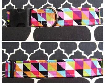Geometric Allsorts Dog Collar / Martingale